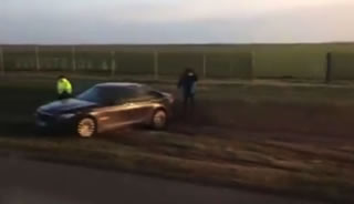 Dangerous Incident! President Duda's limousine landed in a ditch.