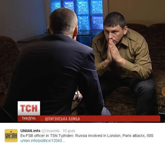 Ex-FSB officer in TSN. Tyzhden: Russia involved in London, Paris attacks, ISIS.