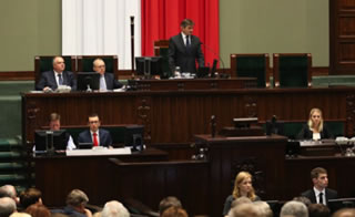 Polish Parliament in Session.